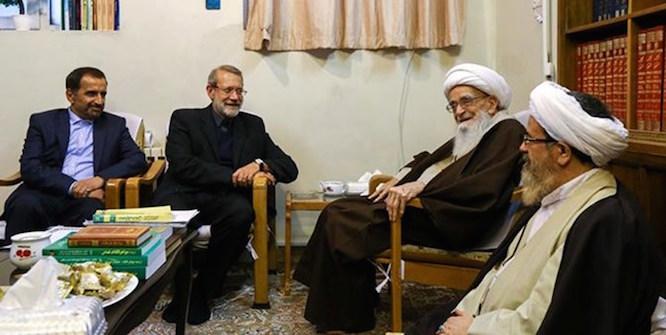 دیدار رئیس مجلس با مراجع عظام تقلید