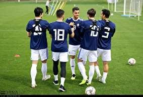 تمرین تیم ملی فوتبال در قطر