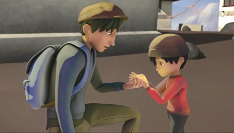 انیمیشن کوتاه هنرمند و بچه