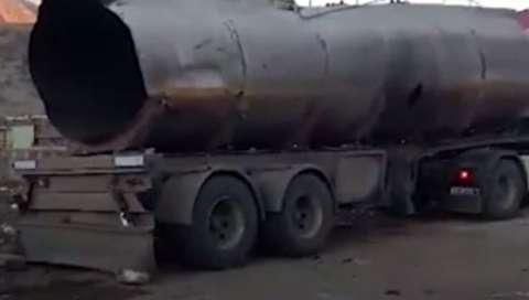 تانکری که با تیراندازی در خرمآباد منفجر شد