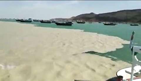 پدیده دریای دو رنگ در سیستان وبلوچستان