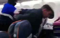 لحظه دستگیری هواپیماربای روسی