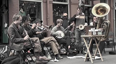 اجرای موزیک خیابانی در نیواورلئان