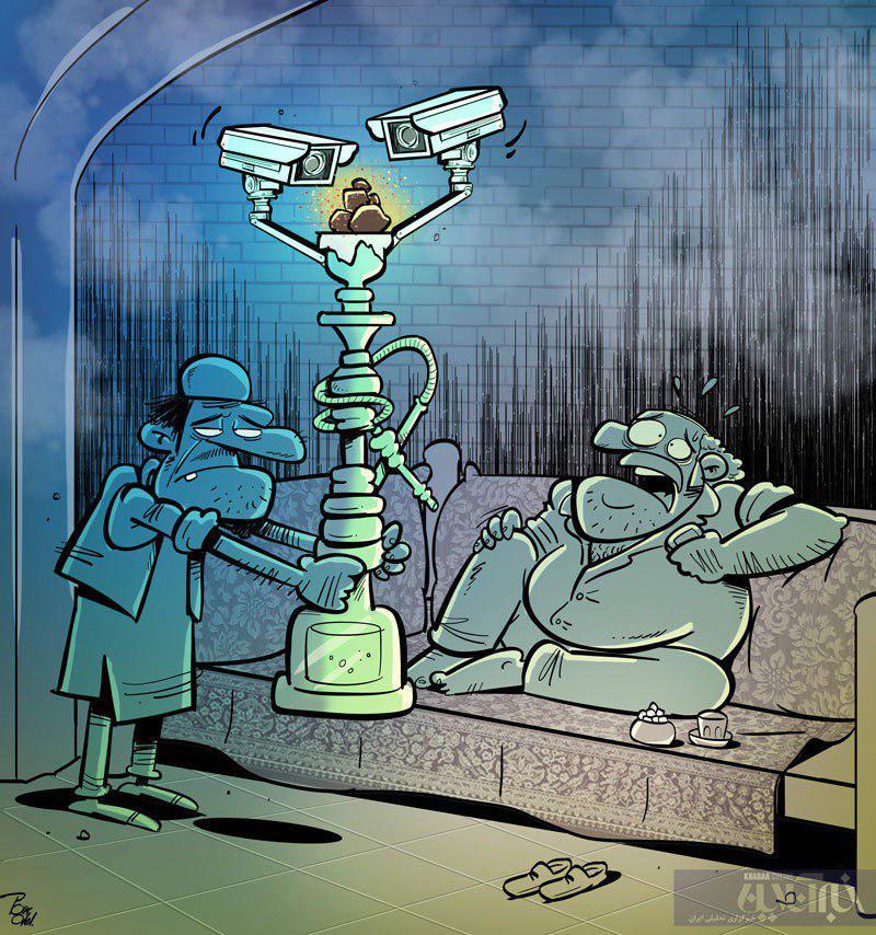 کاریکاتور: شیوه جدید سرو قلیان!