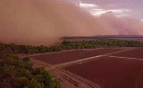 طوفان شن در نیو ساوت ولز؛ بازسازی مریخ!