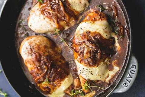 طرز تهیه مرغ پیاز فرانسوی