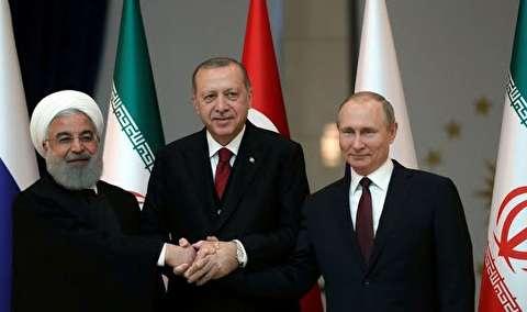 لحظات دیدنی نشست روحانی، پوتین و اردوغان