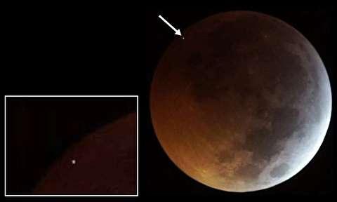 لحظه برخورد شهاب سنگ با ماه