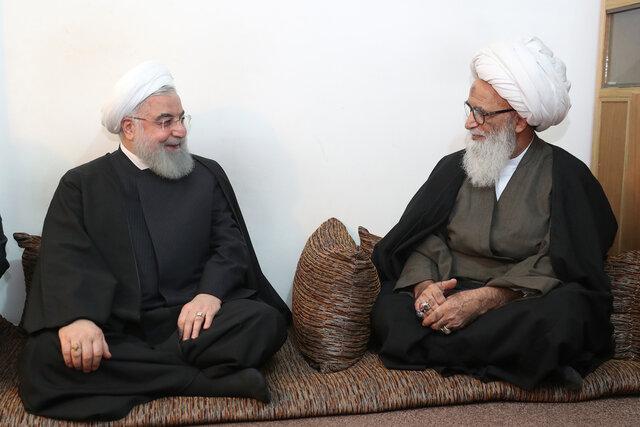 دیدار رئیسجمهور با مراجع عظام در نجف اشرف