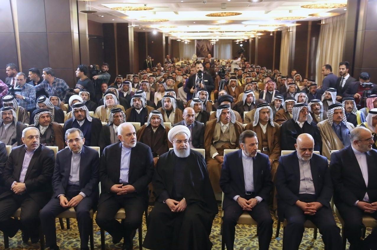 گزارش توئیتری ظریف از سفر روحانی به عراق