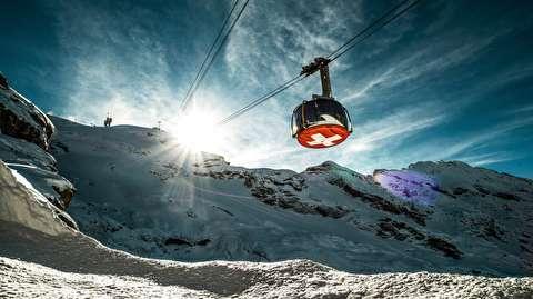 کوه تیتلیس سوئیس در قاب 4K