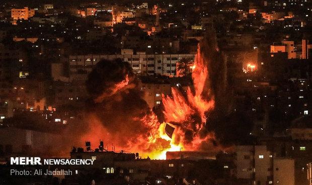 حمله رژیم صهیونیستی به نوار غزه