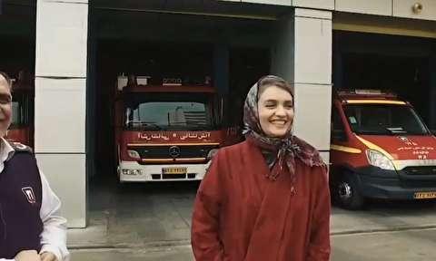 آتش گرفتن خانه میترا حجار با بالن آرزوها