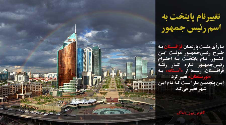 تغییرنام پایتخت به اسم رئیس جمهور