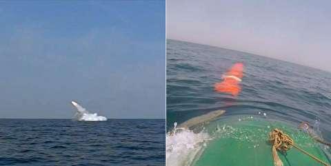 پرتاب شلیک موشک کروز از زیردریایی غدیر