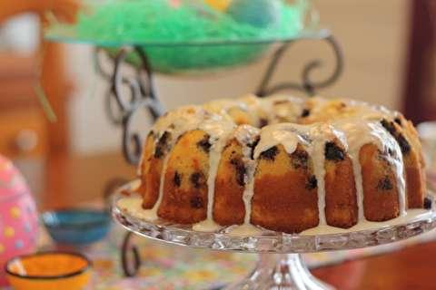 دستور پخت کیک حلقهای بلوبری و لیمو