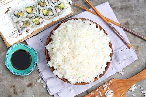 طرز تهیه برنج سوشی