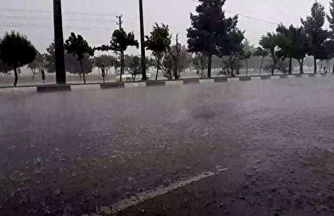 رگبار شدید باران در تهران