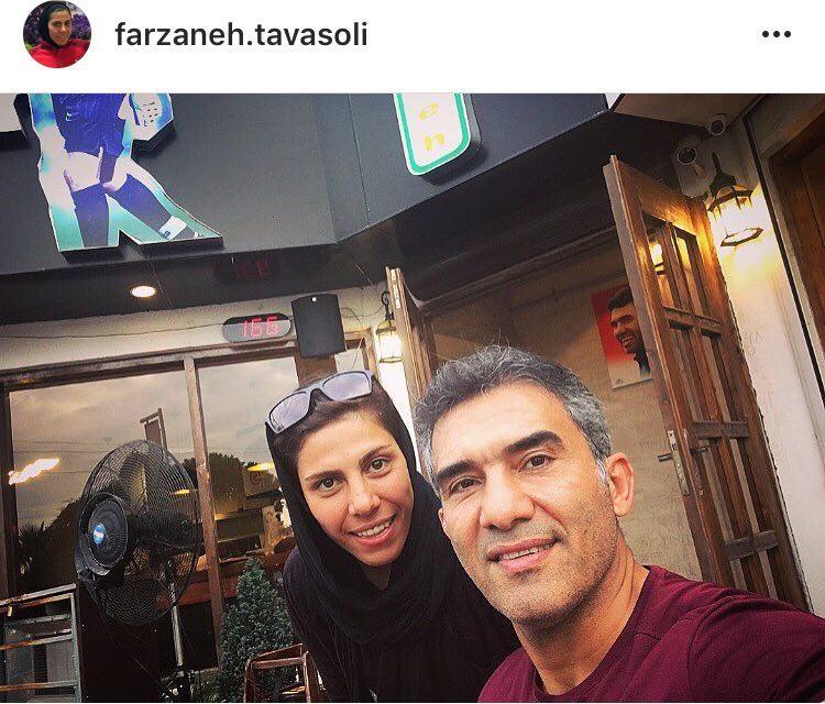 سلفی عقاب تازه آسیا با احمد عابدزاده