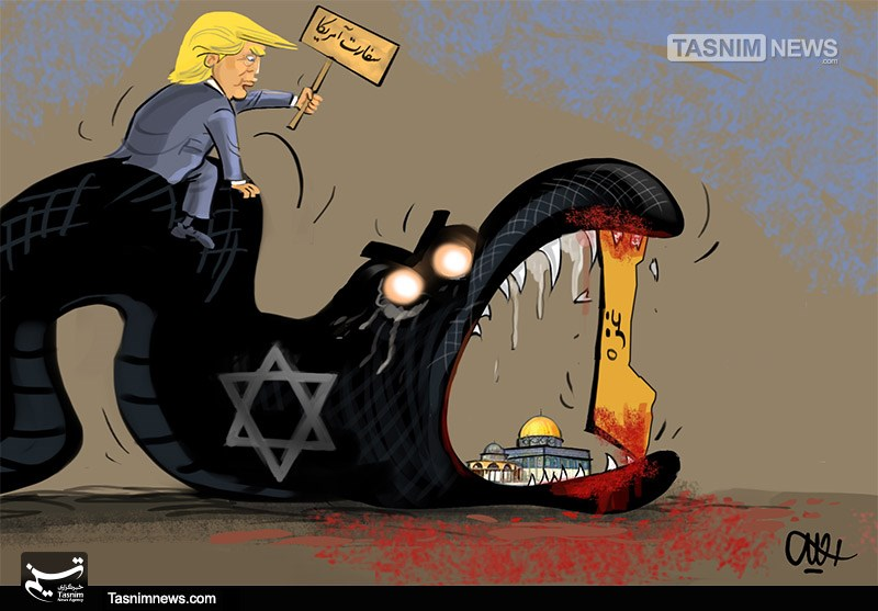 کاریکاتور/غزه استخوانی در گلوی رژیمصهیونیستی!