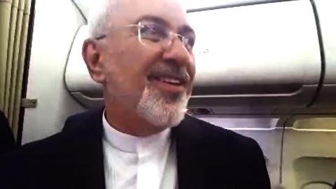 سخنان ظریف پیش از بازگشت به ایران