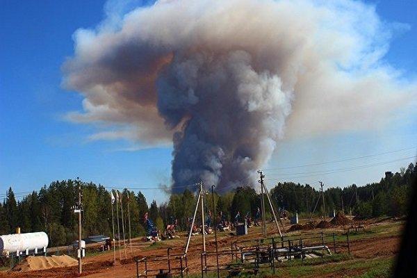 آتش سوزی در «اودمورتیا» در روسیه باعث انفجار شد