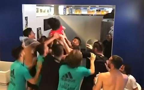 همکاری پسر مارسلو با بازیکنان رئال مادرید