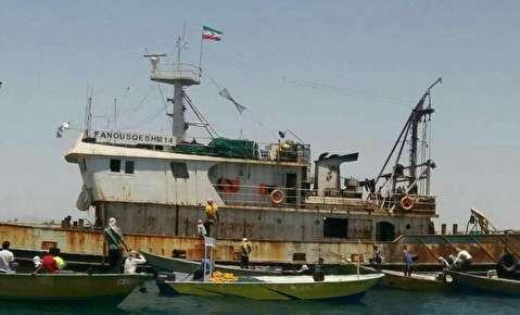 جاروکردن کف خلیج فارس توسط کشتیهای چینی