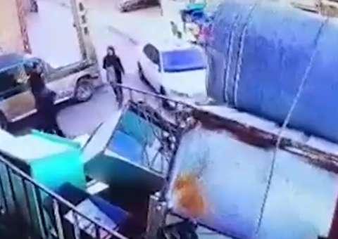 لحظات آدم ربایی یک دختر در تبریز