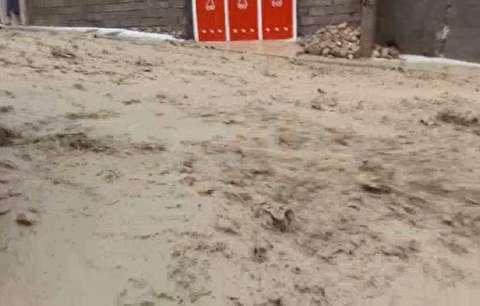 لحظات وقوع سیل در دیشموک چهارمحال و بختیاری