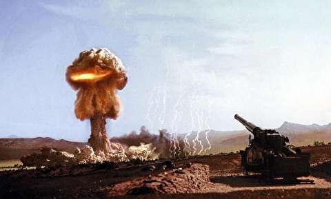 شلیک بمب اتمی با توپ 280 میلیمتری