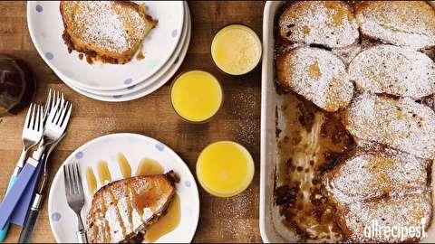 طرز تهیه تست فرانسوی پرتقالی با گردو
