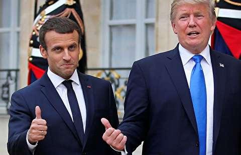 روابط ویژه ترامپ و مکرون سوژه شد