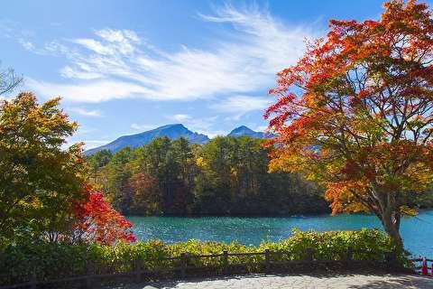 پنج دریاچه آتش فشانی گوشیکی نوما