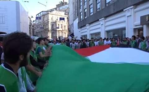 تظاهرات ضدصهیونیستی در ترکیه