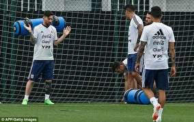 چندعکس از وزنه برداری مسی درتمرین امروز آرژانتین