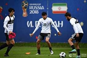تمرین تیم ملی فوتبال ایران از لنز خبرگزاری روس