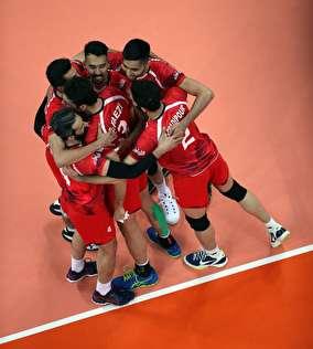 تصاویری زیبا از بازی امروز والیبال ایران و چین
