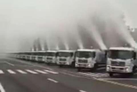 خنک کردن هوای گرم در چین با «بمب مه»