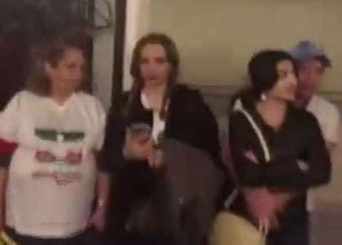 کریخوانی هواداران ایران و مراکش در میدان سرخ