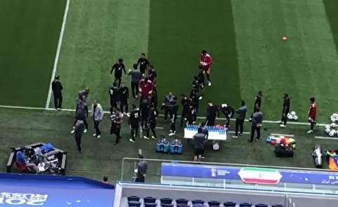 تمرین تیم ملی ایران پیش از بازی با مراکش