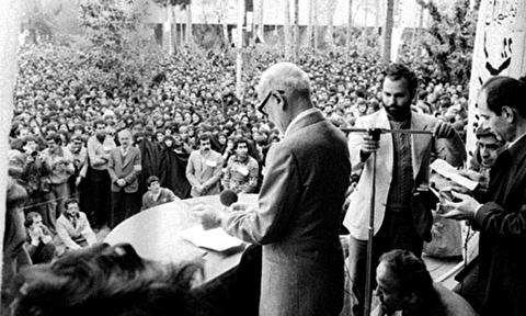 سخنرانی بازرگان در دانشگاه تهران دو روز قبل از پیروزی انقلاب