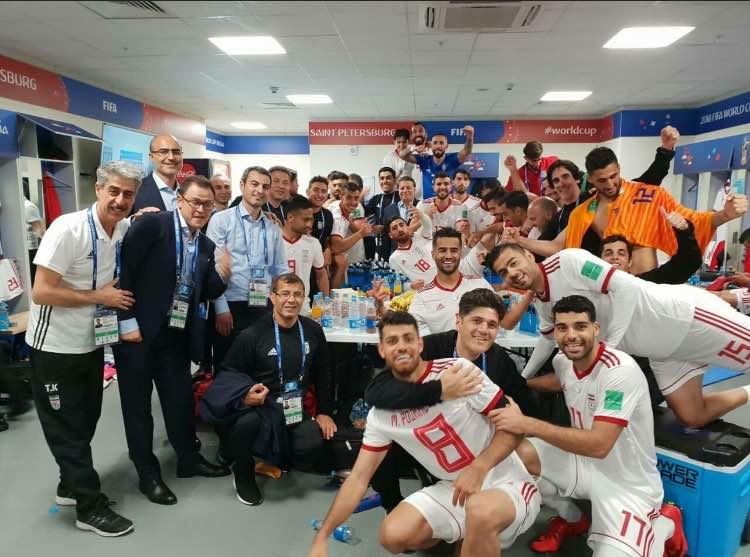 حال و هوای رختکن تیم ملی بعد از برد برابر مراکش