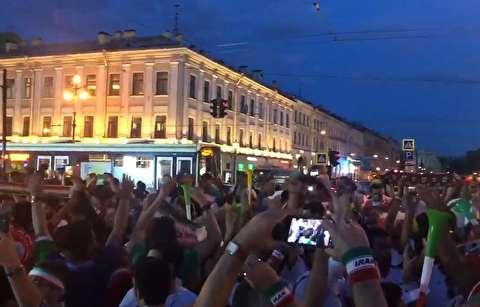 شادی ایرانیها در خیابانهای روسیه