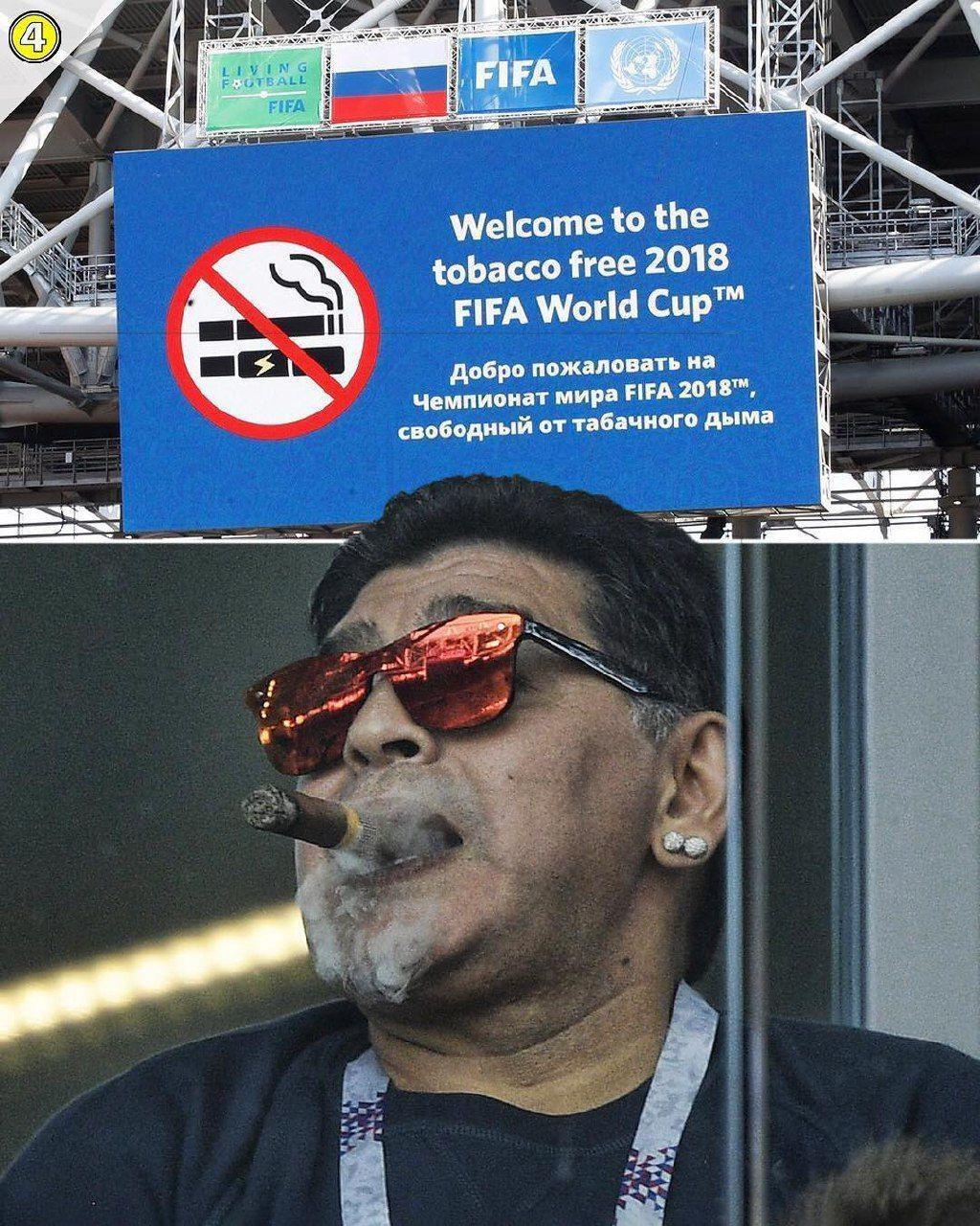 مارادونا،سیگار برگ و ممنوعیتی که زیر پا گذاشت!