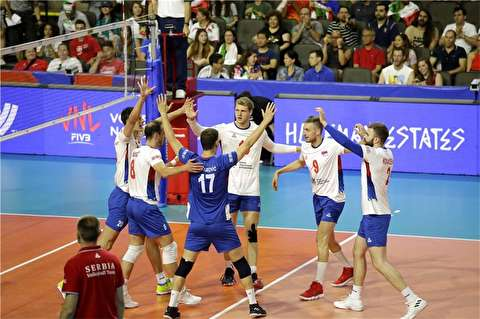 خلاصه بازی والیبال ایران - صربستان