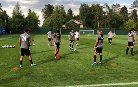 نخستین تمرین تیم ملی ایران پس از بازی مراکش