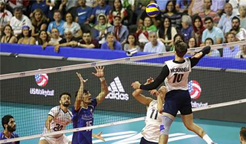 خلاصه لیگ ملتهای والیبال: آمریکا 3-0 ایران