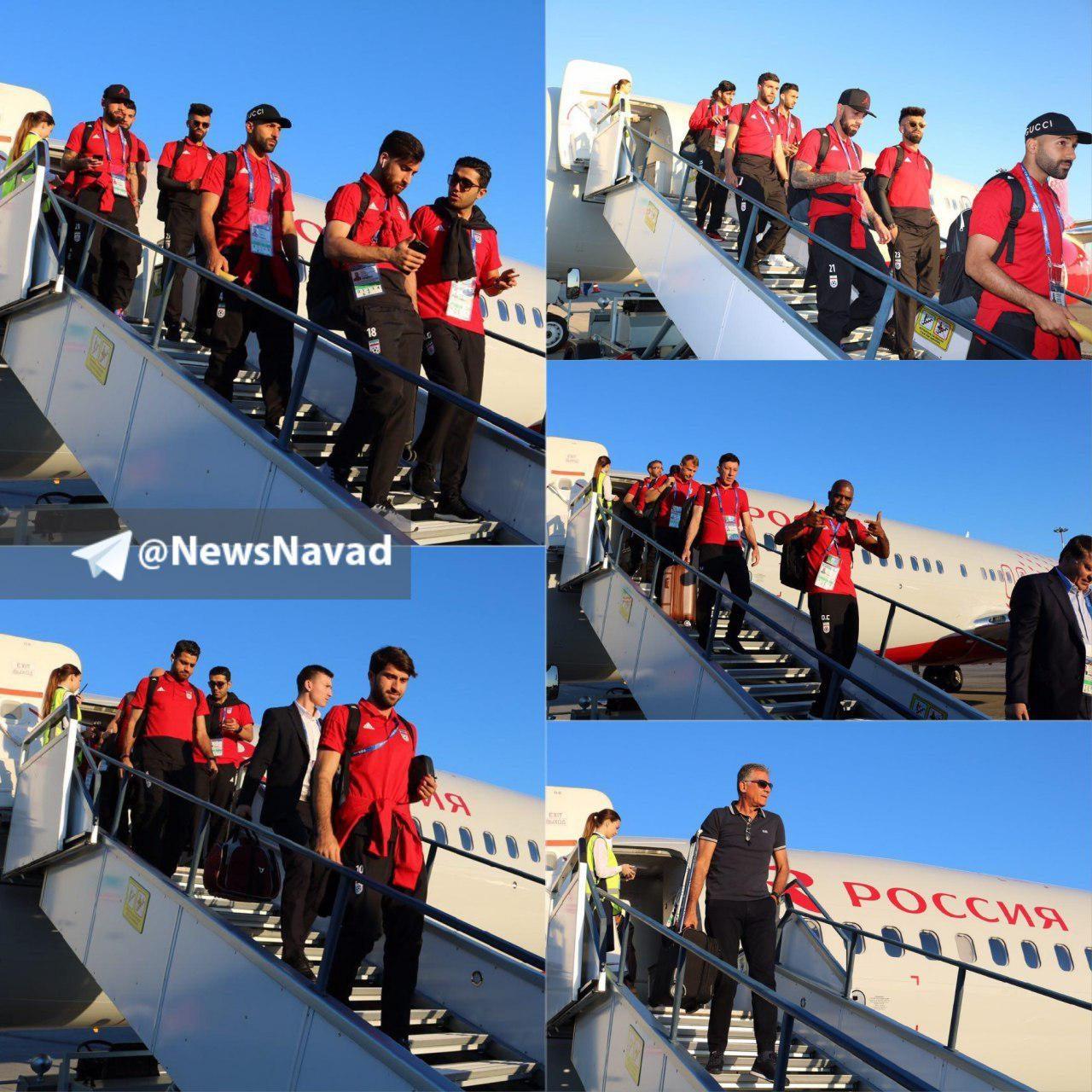 ورود بازیکنان تیم ملی کشورمان به شهر «کازان»
