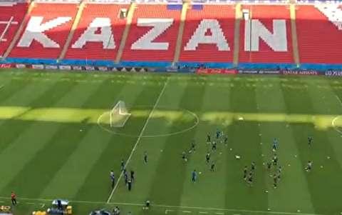 تمرین تیم ایران پیش از دیدار با اسپانیا
